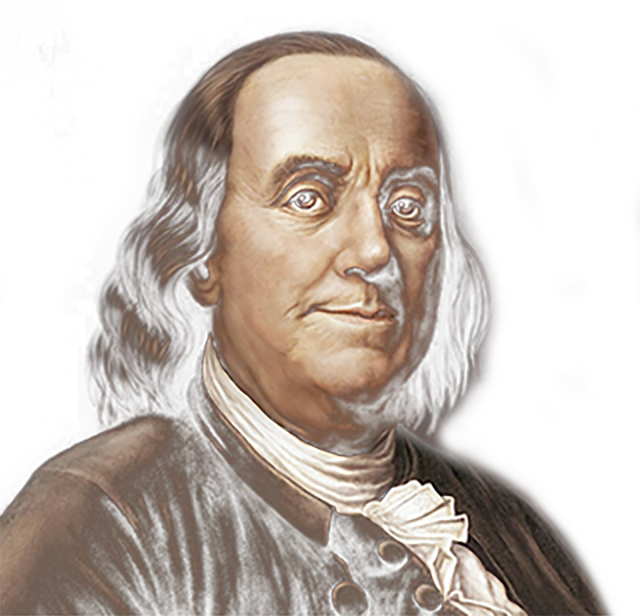 An image of Benjamin Franklin
